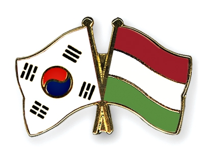 Korean-Hungarian flags
